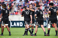 Dejected New Zealand players after the World Championship U20 3rd place match between South Africa and New Zealand on June 17, 2018 in Beziers, France. (Photo by Alexandre Dimou/Icon Sport)