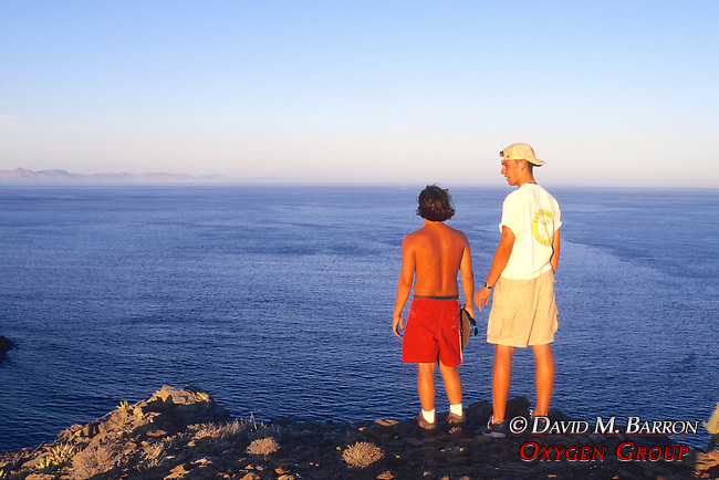 Looking Out From Island To Sea Of Cortez