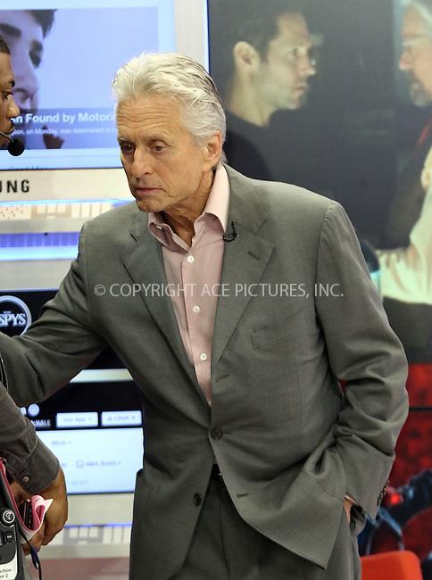 WWW.ACEPIXS.COM<br /> <br /> July 14 2015, New York City<br /> <br /> Actor Michael Douglas made an appearance at 'Good Morning America' on July 14 2015 in New York City<br /> <br /> By Line: Zelig Shaul/ACE Pictures<br /> <br /> <br /> ACE Pictures, Inc.<br /> tel: 646 769 0430<br /> Email: info@acepixs.com<br /> www.acepixs.com