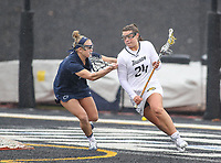 Towson, MD - February 10, 2018: Towson Kaitlin Thornton in action during game between Towson and Penn St at  Minnegan Field at Johnny Unitas Stadium  in Towson, MD.   (Photo by Elliott Brown/Media Images International)