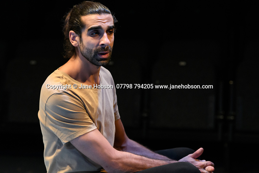 """The Arrival"", written and directed by Bijan Sheibani, opems at the Bush Theatre. Set and costume design is by Samal Black, lighting design by Oliver Fenwick, movement direction by Aline David. The Picture shows: Scott Karim (Tom)"