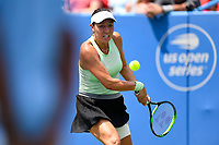 Washington, DC - August 3, 2019: Jessica Pegula (USA) in action against Anna Kalinskaya (RUS) during the Citi Open WTA Singles Semi Finals at Rock Creek Tennis Center, in Washington D.C. (Photo by Philip Peters/Media Images International)