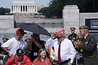 Washington, DC - June 6, 2019: Friends of World War II Memorial commemorate the 75th anniversary of D-Day and the Battle of Normandy at the World War II Memorial in Washington D.C,. June 6, 2019.  (Photo by Lenin Nolly/Media Images International)