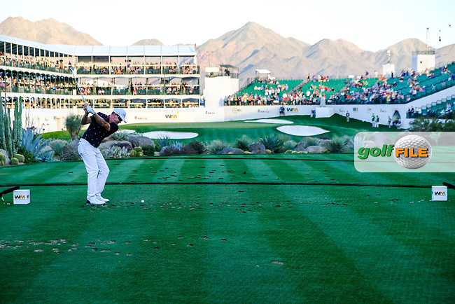 Brian Gay (USA) on the 16th tee during the 2nd round of the Waste Management Phoenix Open, TPC Scottsdale, Scottsdale, Arisona, USA. 01/02/2019.<br /> Picture Fran Caffrey / Golffile.ie<br /> <br /> All photo usage must carry mandatory copyright credit (&copy; Golffile | Fran Caffrey)