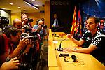 Spanje, Barcelona, 20 oktober 2014<br /> Seizoen 2014-2015<br /> Champions League<br /> Persconferentie Frank de Boer, trainer-coach van Ajax