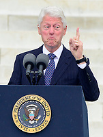***FILE PHOTO*** Bill Clinton Has Not Apologized To Monica Lewinsky And Claims Did The Right Thing Staying In Office.<br /> <br /> Former United States  President Bill Clinton makes remarks at the Let Freedom Ring ceremony on the steps of the Lincoln Memorial to commemorate the 50th Anniversary of the March on Washington for Jobs and Freedom.<br /> CAP/MPI/RS<br /> &copy;RS/MPI/Capital Pictures