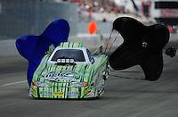 Feb. 11, 2012; Pomona, CA, USA; NHRA top alcohol funny car driver Jason Rupert during the Winternationals at Auto Club Raceway at Pomona. Mandatory Credit: Mark J. Rebilas-