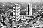 Chantry and Hermes Points on the Elgin Estate in North Paddington. The asbestos-ridden towers were used by Westminster City Council to rehouse homeless families as part of the programme which became known as the 'Homes for Votes' scandal. The towers were demolished in 1995.