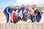 Beach fun: Ballyduff National School pupils who took part in the JSAR event on the ladies beach in Ballybunion on Friday.