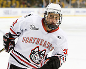 Robbie Vrolyk (Northeastern - 91) - The Northeastern University Huskies defeated the Harvard University Crimson 4-0 in their Beanpot opener on Monday, February 7, 2011, at TD Garden in Boston, Massachusetts.