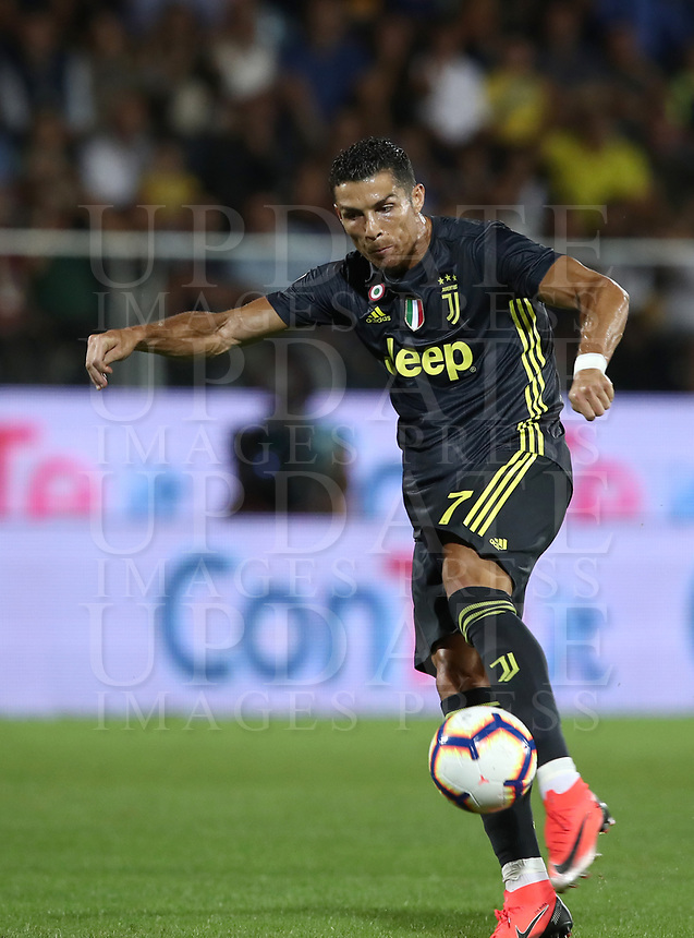 Calcio, Serie A: Frosinone-Juventus, Benito Stirpe stadium, Frosinone, September 23, 2018. <br /> Juventus' Cristiano Ronaldo in action during the Italian Serie A football match between Frosinone and Juventus at Frosinone stadium on September 23, 2018.<br /> UPDATE IMAGES PRESS/Isabella Bonotto