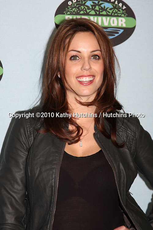 """Danielle DeLorenzo.arrivng at the """"Survivor"""" 10 Year Anniverary Party .CBS Television CIty.Los Angeles, CA.January 9, 2010.©2010 Kathy Hutchins / Hutchins Photo...."""