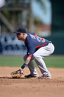 Boston Red Sox first baseman Mike Carp (37) during a spring training game against the Baltimore Orioles on March 8, 2014 at Ed Smith Stadium in Sarasota, Florida.  Baltimore defeated Boston 7-3.  (Mike Janes/Four Seam Images)