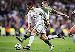 Cristiano Ronaldo of Real Madrid battles for the ball with Michal Kucharczyk of Legia Warszawa during the 2016-17 UEFA Champions League match between Real Madrid and Legia Warszawa at the Santiago Bernabeu Stadium on 18 October 2016 in Madrid, Spain. Photo by Diego Gonzalez Souto / Power Sport Images