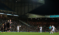 Leeds United's Kalvin Phillips takes a freekick<br /> <br /> Photographer Alex Dodd/CameraSport<br /> <br /> The Carabao Cup Second Round- Leeds United v Stoke City - Tuesday 27th August 2019  - Elland Road - Leeds<br />  <br /> World Copyright © 2019 CameraSport. All rights reserved. 43 Linden Ave. Countesthorpe. Leicester. England. LE8 5PG - Tel: +44 (0) 116 277 4147 - admin@camerasport.com - www.camerasport.com