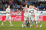 Atletico de Madrid team celebrates a goal during the league football match with Atletico de Madrid vs Eibar CF at the Ipurua stadium in Eibar on Jaunary 31, 2015. Rafa Marrodan / Photocall3000.