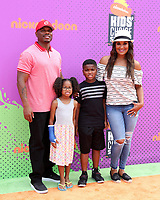 LOS ANGELES - July 13:  Curtis Conway, Sydney Conway, Curtis Conway Jr, Laila Ali at the Nickelodeon Kids' Choice Sports Awards 2017 at the Pauley Pavilion on July 13, 2017 in Westwood, CA