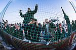 Södertälje 2013-03-31 Fotboll Allsvenskan , Syrianska FC - Kalmar FF :  .Kalmar FF fans är glada efter vinsten över Syrianska FC.( Foto: Kenta Jönsson ) Nyckelord:  supporter fans publik supporters jubel glädje lycka glad happy glad glädje lycka leende ler le