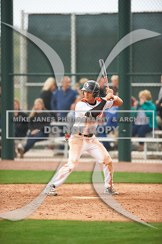 Trey Zahursky (6) of Capuchino High School in Millbrae, California during the Under Armour All-American Pre-Season Tournament presented by Baseball Factory on January 14, 2017 at Sloan Park in Mesa, Arizona.  (Zac Lucy/Mike Janes Photography)