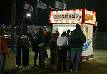People wait in line at the greater Baton Rouge State Fair Louisiana Thursday Oct 23 2008. Americans will go to the polls on Nov 4, at a time of great Financial crisis, war in Iraq and Afghanistan, to elect a  new President. A vote, that will affect not only America, but the whole world. Photo by Eyal Warshavsky .