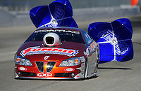Feb. 10, 2012; Pomona, CA, USA; NHRA pro stock driver Jason Line during qualifying at the Winternationals at Auto Club Raceway at Pomona. Mandatory Credit: Mark J. Rebilas-