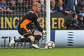 9th September 2017, King Power Stadium, Leicester, England; EPL Premier League Football, Leicester City versus Chelsea; Kasper Schmeichel of Leicester City stops a long range shot at the end off the first half