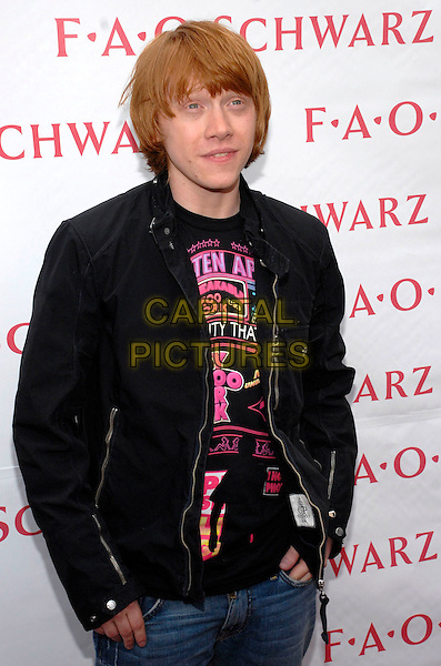 RUPERT GRINT.Attends the opening of the first U.S. Harry Potter Store at FAO Schwartz, New York, New York, USA,.13 July 2007..half length black jacket.CAP/ADM/BL.©Bill Lyons/AdMedia/Capital Pictures. *** Local Caption ***
