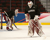 Sihak Lee (Harvard - 1) - The Harvard University Crimson practiced at the United Center on Wednesday, April 5, 2017, in Chicago, Illinois.