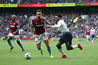 Tottenham Hotspur's Danny Rose and West Ham United's Ryan Fredericks<br /> <br /> Photographer Rob Newell/CameraSport<br /> <br /> The Premier League - Tottenham Hotspur v West Ham United - Saturday 27th April 2019 - White Hart Lane - London<br /> <br /> World Copyright © 2019 CameraSport. All rights reserved. 43 Linden Ave. Countesthorpe. Leicester. England. LE8 5PG - Tel: +44 (0) 116 277 4147 - admin@camerasport.com - www.camerasport.com