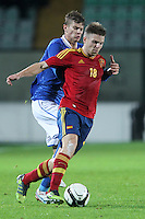 "Illarramendi e Samuele Longo.Siena 13/11/2012 Stadio ""Franchi"".Football Calcio Nazionale U21.Italia v Spagna.Foto Insidefoto Paolo Nucci."