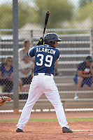 San Diego Padres second baseman Kelvin Alarcon (39) during a Minor League Spring Training game against the Seattle Mariners at Peoria Sports Complex on March 24, 2018 in Peoria, Arizona. (Zachary Lucy/Four Seam Images)