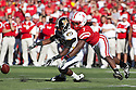 30 October 2010: Nebraska defensive back DeJon Gomes (7) breaks up a pass to Missouri wide receiver Jerrell Jackson (29) at Memorial Stadium in Lincoln, Nebraska. Nebraska defeated Missouri 31 to 17.