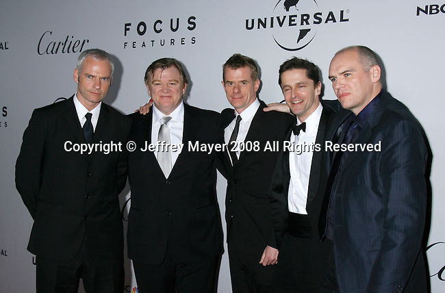 BEVERLY HILLS, CA. - January 11: Director Martin McDonagh, actor Brendan Gleeson, producer Graham Broadbent and guest attend the Universal and Focus Features After Party for the 66th Annual Golden Globe Awards held at the Beverly Hilton Hotel on January 11, 2009 in Beverly Hills, California.