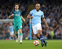 Manchester City's Vincent Kompany <br /> <br /> Photographer Rich Linley/CameraSport<br /> <br /> UEFA Champions League - Quarter-finals 2nd Leg - Manchester City v Tottenham Hotspur - Wednesday April 17th 2019 - The Etihad - Manchester<br />  <br /> World Copyright © 2018 CameraSport. All rights reserved. 43 Linden Ave. Countesthorpe. Leicester. England. LE8 5PG - Tel: +44 (0) 116 277 4147 - admin@camerasport.com - www.camerasport.com