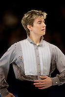 November 19, 2005; Paris, France; Figure skating star JEFFREY BUTTLE of Canada skates to gold at Trophee Eric Bompard, ISU Paris Grand Prix competition.  Buttle is one of the favorites in mens leading up to Torino 2006 Olympics.<br />