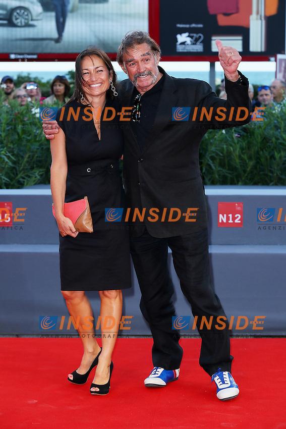 VENICE, ITALY - SEPTEMBER 09: Lola Navarro and Fabio Testi attend '11 Minutes' Premiere during 72nd Venice Film Festival at Palazzo Del Cinema on September 9, 2015 in Venice, Italy. (Mark Cape/insidefoto)