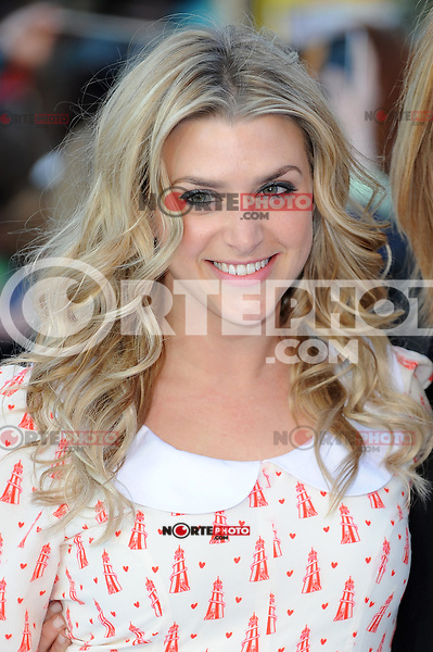 """NON EXCLUSIVE PICTURE: PAUL TREADWAY / MATRIXPICTURES.CO.UK.PLEASE CREDIT ALL USES..WORLD RIGHTS..British TV presenter Anna Williamson attending the premiere of """"Star Trek Into Darkness"""", at London's Empire Theatre...MAY 2nd 2013..REF: PTY 132934"""