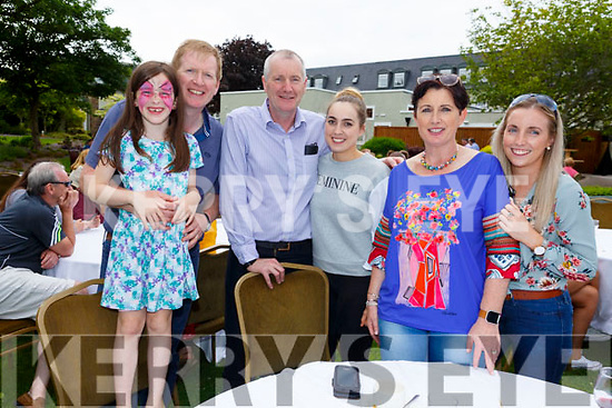 Enjoying the sun and fun at the Dairymaster 50th Anniversary BBQ in the Ballygarry Hotel on Sunday.<br /> L-r, Ruth and Pat Dowling, John and Muireann Fleming, Lucia Power and Cariosa Fleming.