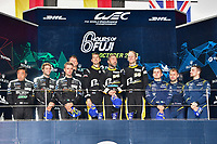 #56 TEAM PROJECT 1 (DEU) PORSCHE 911 RSR GTE AM JORG BERGMEISTER (DEU) PATRICK LINDSEY (USA) EGIDIO PERFETTI (NOR) WINNER LMGTE AM<br /> #88 DEMPSEY PROTON RACING (DEU) PORSCHE 911 RSR GTE AM SATOSHI HOSHINO (JPN) GIORGIO RODA (ITA) MATTEO CAIROLI (ITA) SECOND LMGTE AM<br /> #90 TF SPORT (GBR) ASTON MARTIN VANTAGE GTE AM SALIH YOLUC (TUR) JONATHAN ADAM (GBR) CHARLES EASTWOOD (GBR) THIRD LMGTE AM