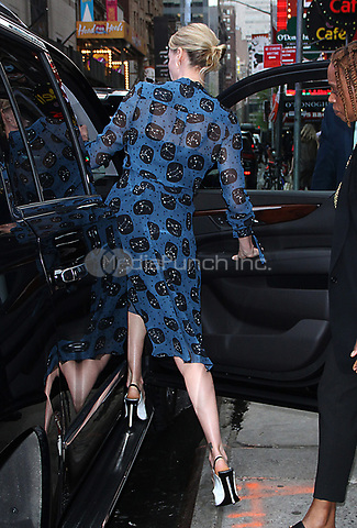 NEW YORK, NY - MAY 4: Charlize Theron seen leaving Good Morning America on promotion for her new film, 'Tully' on May 04, 2018 in New York City. Credit: RW/MediaPunch