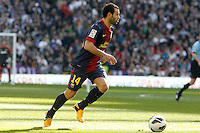 FC Barcelona's Javier Mascherano during La Liga match.March 02,2013. (ALTERPHOTOS/Acero) /NortePhoto