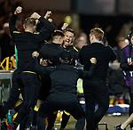 11.05.2018 Livingston v Dundee Utd: Livingston bench celebrate at full time