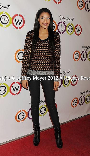 WEST HOLLYWOOD, CA - NOVEMBER 14: Kali Hawk attends the opening of Kimberly Snyder's Glow Bio Juice Bar at Glow Bio on November 14, 2012 in West Hollywood, California.