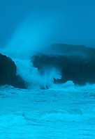 769550223v a violent pacific storm sends waves and surf crashing over numerous sea stacks along the beach near bandon oregon