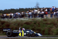 ANDERSTORP, SWEDEN - JUNE 13: Patrick Depailler drives the Tyrrell P34 2/Ford Cosworth DFV during the Grand Prix of Sweden on June 13, 1976, at Scandinavian Raceway near Anderstorp, Sweden.
