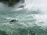 The Maid of the Mist approaches Horseshoe Falls at Niagara Falls in Niagara Falls, Canada.