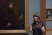 Talk by Sadie Lee infront of a Sir Peter Lely self portrait, State Secondary school visit to the National Portrait Gallery, London.