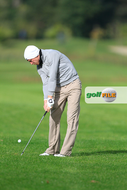 Conor Thornton (Dundalk) on the 15th  during Round 2 of The Cassidy Golf 103rd Irish PGA Championship in Roganstown Golf Club on Friday 11th October 2013.<br /> Picture:  Thos Caffrey / www.golffile.ie