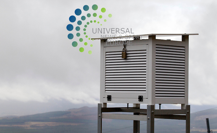 Cairngorm Automatic Weather Station - The Cairngorm Mountain Railway, which opened in 2001, is the highest railway in the United Kingdom. The two-kilometre long funicular ascends the northern slopes of Cairngorm<br /> Picture: Universal News And Sport (Europe) 16 October  2014.