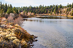 Fall color on the river, Riverbend Park, on the Deschutes River in Bend, Oregon.  Hiking, kayaking, swimming, and a wilderness feel right in town!